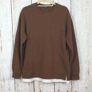 Zara Trafaluc Faux Layered Oversized Sweatshirt